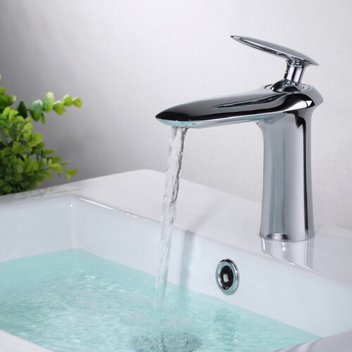 Contemporary/Modern Single Handle Centerset Sink Faucet