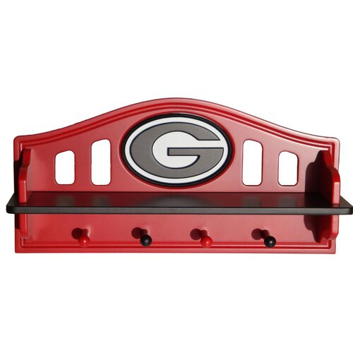 Fan Creations NCAA Coat Rack with Shelf