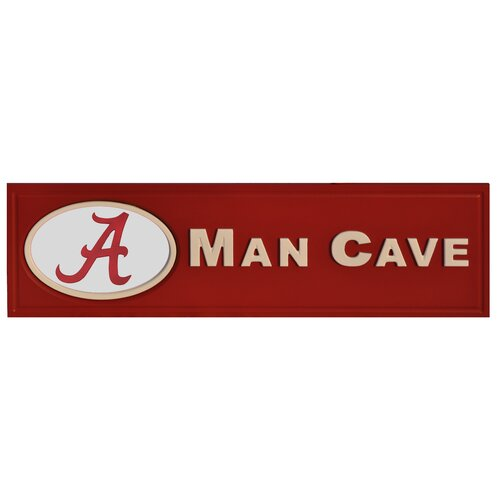 NCAA Man Cave Graphic Art Plaque