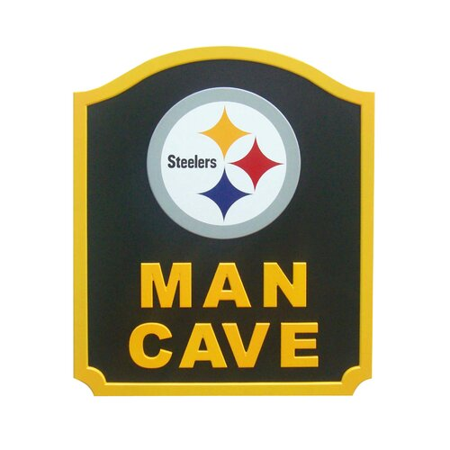 NFL Man Cave Shield Graphic Art Plaque