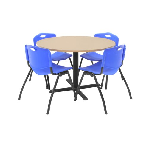 """Regency Hospitality 42"""" Round Table with Chairs"""