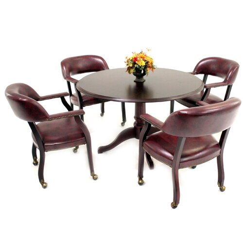 Regency Prestige Traditional Veneer Round Conference Table In Mahogany - Regency conference table
