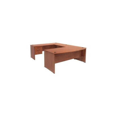 Regency Bow-Front Executive Desk