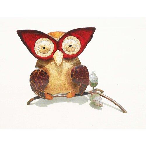 D-Art Collection Iron Owl Décor Statue