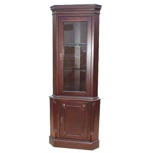 Cherry corner cabinet wayfair for Wayfair kitchen cabinets