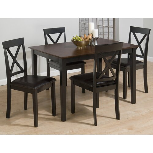 Jofran Burly 5 Piece Dining Table Set Reviews Wayfair