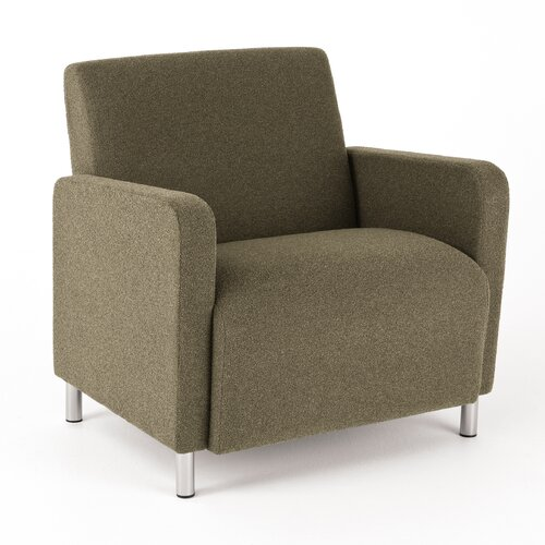 Lesro Ravenna Series Lounge Chair with Wood Frame