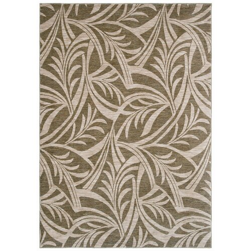 Tommy Bahama Rugs Home Nylon Abstracted Light Green Leaf Rug