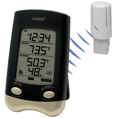 Lacrosse Technology Wireless Temperature and Humidity Station Wall Clock