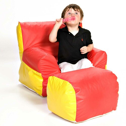 Soft-E-Boy Kids Chair and Ottoman