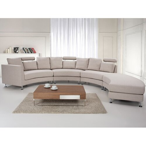 Beliani Round Upholstered Sofa