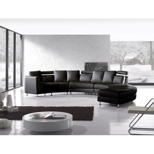 Beliani Rotunde 4 Piece Leather Circular Living Room Set & Reviews ...