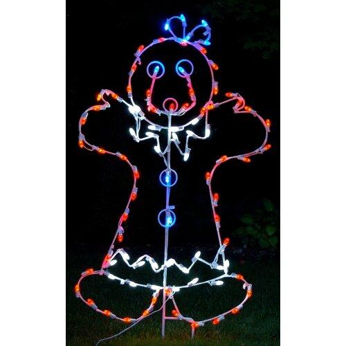 Mrs Gingerbread Woman LED Light Christmas Decoration
