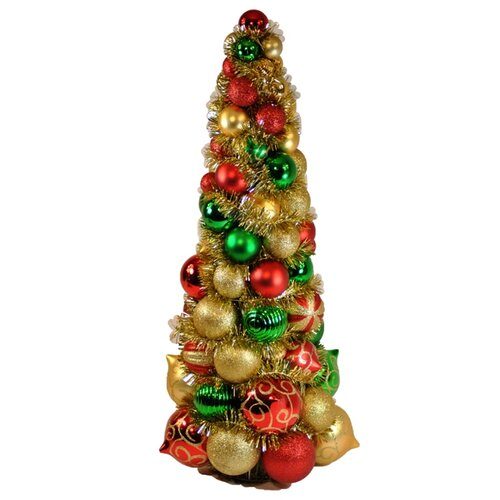 Queens of Christmas 2' Multi-Colored Ornament Tree