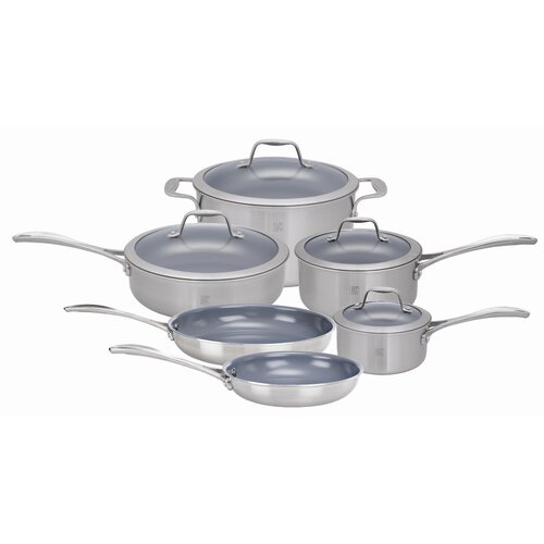 Zwilling JA Henckels Spirit Nonstick 10-Piece Cookware Set
