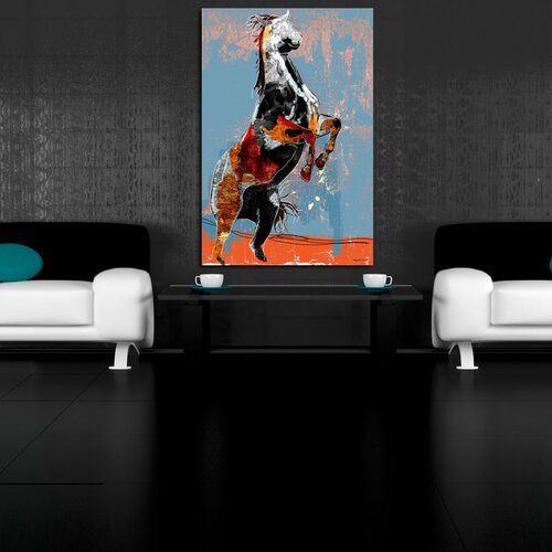 Maxwell Dickson Fighting Horse Graphic Art on Canvas