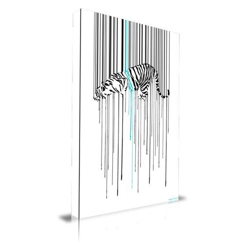 Tiger Stripe Graphic Art on Canvas
