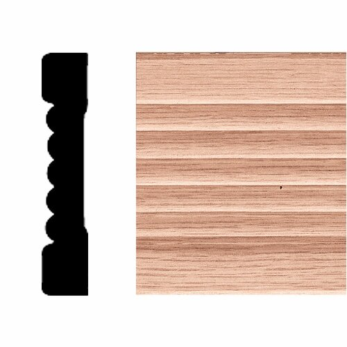 Manor House 7/16 in. x 2-1/4 in. x 7 ft. Oak Fluted Casing Moulding