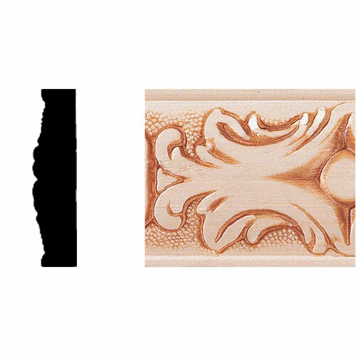 Manor House 1/2 in. x 2 in. x 8 ft. Hardwood Embossed Batten Moulding