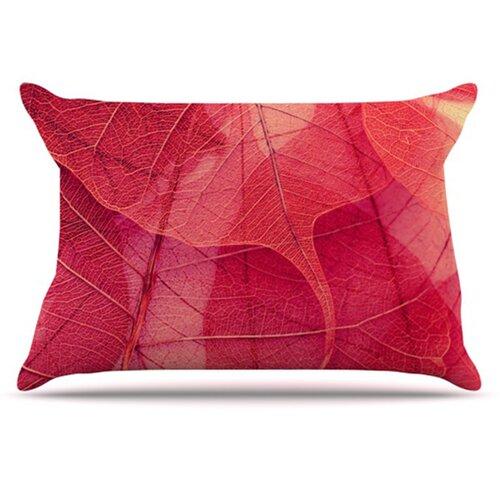 KESS InHouse Delicate Leaves Pillowcase