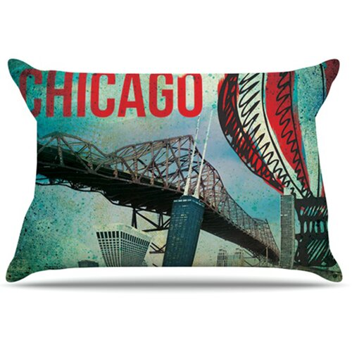 KESS InHouse Chicago Pillowcase