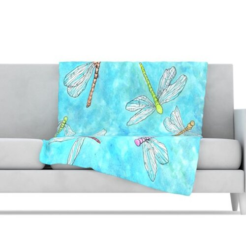 Dragonfly Fleece Throw Blanket
