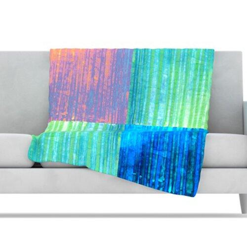 KESS InHouse Crayon Batik Fleece Throw Blanket