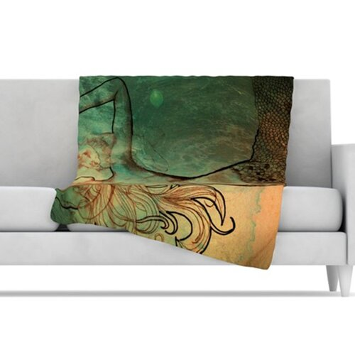 KESS InHouse Poor Mermaid Fleece Throw Blanket