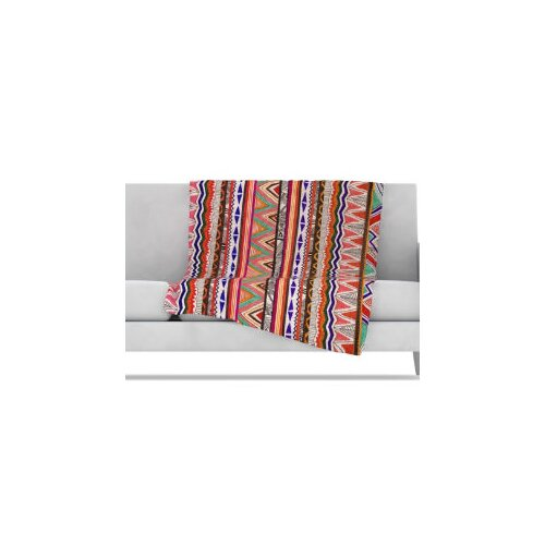 KESS InHouse Native Tessellation Fleece Throw Blanket