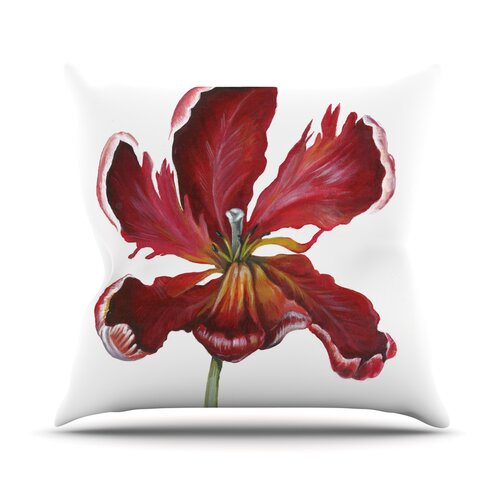 Open Tulip Throw Pillow