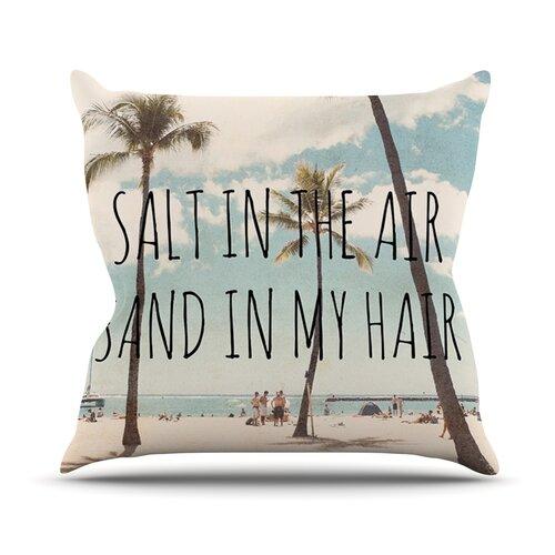 Salt in The Air Throw Pillow