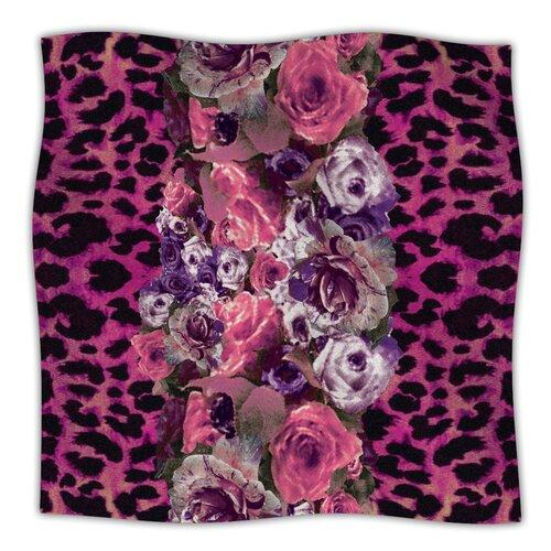 Rose Strip Microfiber Fleece Throw Blanket