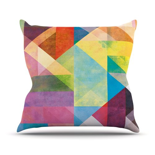 Color Blocking II by Mareike Boehmer Rainbow Abstract Throw Pillow