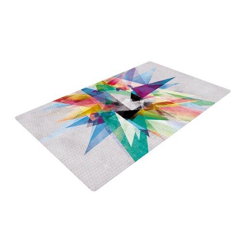 Colorful Rainbow Abstract Area Area Rug