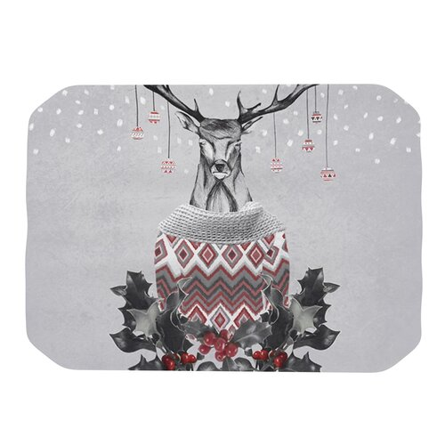 Christmas Deer Snow Placemat