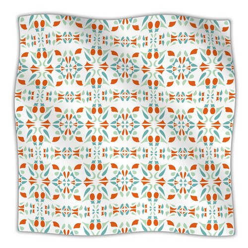 Italian Kitchen Orange Microfiber Fleece Throw Blanket