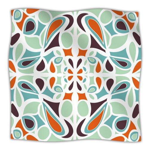 Stained Glass Orange Purple Microfiber Fleece Throw Blanket