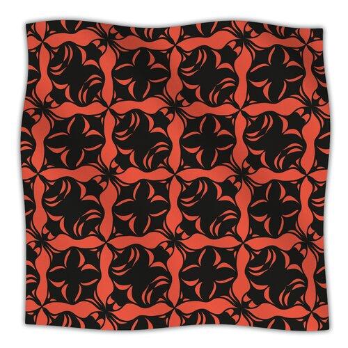 Oval Orange Love Microfiber Fleece Throw Blanket