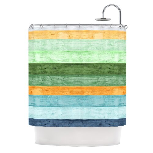 Beach Wood Polyester Shower Curtain