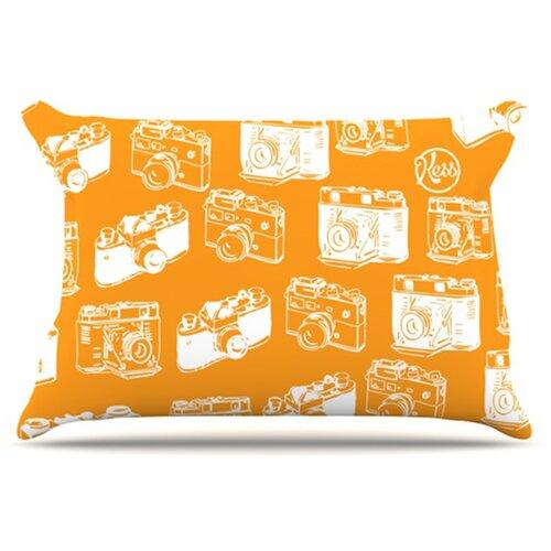 KESS InHouse Camera Pattern Pillowcase