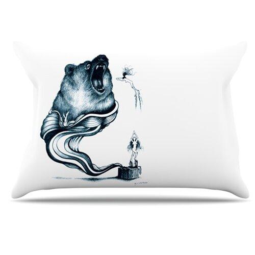 KESS InHouse Hot Tub Hunter Pillowcase