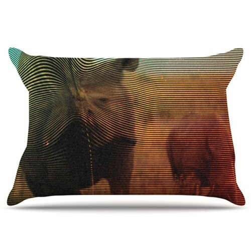 KESS InHouse Abstract Rhino Pillowcase