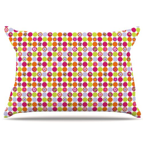 KESS InHouse Happy Circles Pillowcase