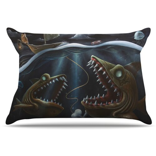 KESS InHouse Sink or Swim Pillowcase