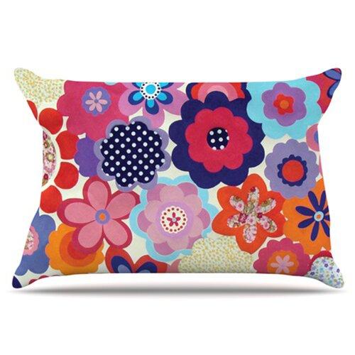 KESS InHouse Patchwork Flowers Pillowcase
