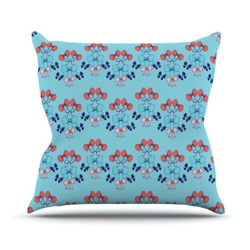KESS InHouse Bows Throw Pillow