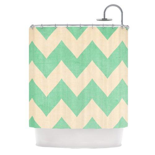 KESS InHouse Malibu Polyester Shower Curtain