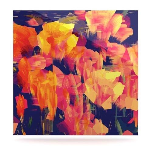 KESS InHouse Geo Flower by Kathryn Pledger Graphic Art Plaque