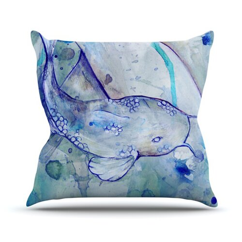 Koi Playing Throw Pillow