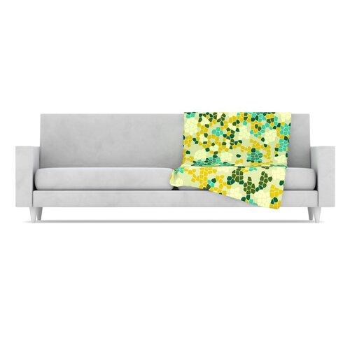 KESS InHouse Flower Garden Mosaic Fleece Throw Blanket